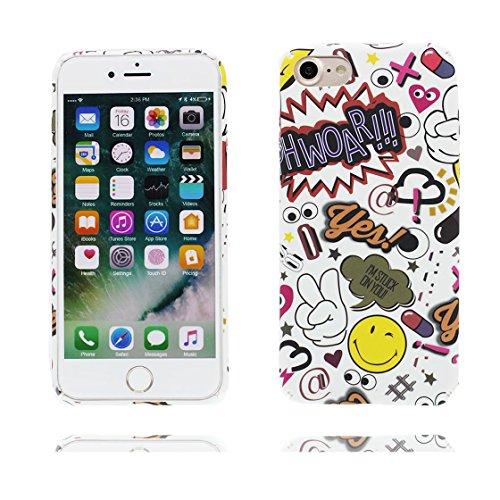 iPhone 7 Custodia, Ultra sottil TPU Case Cover Shell Semplice Progettato per iPhone 7 Copertura (4.7 pollici), prova antipolvere della prova di polvere ( Cartoon Sorriso ) Color 6