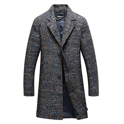 YL - Manteau - Trench - Homme Bleu