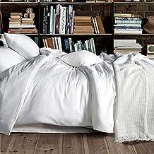 DADAO-La ropa de cama de algodón conjunto de cuatro piezas de algodón puro de alta calidad de color hojas quilt 1.2m/1.8m/2.0m bed, cama de 1,8 m, blanco
