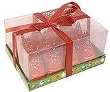 Weihnachtstee Geschenkbox mit 12 Pyramiden Tee Beutel 6 St. grüner Tee 6 St. schwarzer Tee