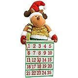 "WeRChristmas 50 cm Large ""Standing Reindeer"" Advent Calander Christmas Decoration, Multi-Colour"