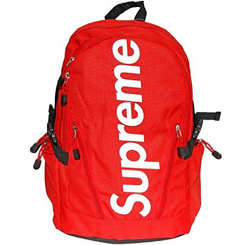 Supreme Spain Rucksack Tasche Laptoptasche Big Logo Streetwear Dope (rot (1002))