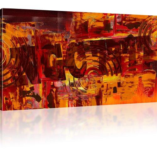 Abstrakte Galaxie NGC 7777 Bild auf Leinwand Wandbilder Kunstdruck besser als Poster