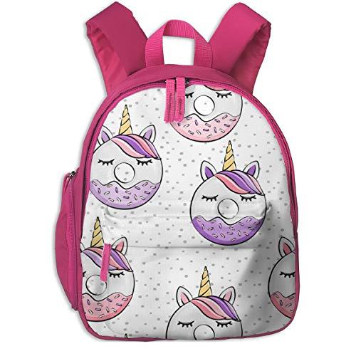 Zaino per bambini 2 anni,Ciambelle all'unicorno (viola e rosa) su Spots_3860 - littlearrowdesign, Per le scuole per bambini Panno oxford (rosa)