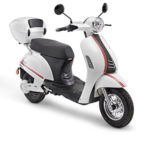 Elektroroller LuXXon E3000 - Elektro Scooter mit 3000 Watt, max. 45 km/h, Reichweite bis zu 60 km, weiß