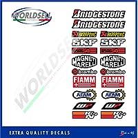 Adesivi kit sponsor tecnici moto 1 (20 loghi) Sbk Honda Ducati Suzuki Yamaha gp