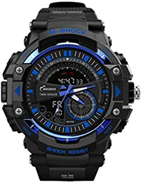 Fashion Sports Jungen-Armbanduhr Wasserdicht LED Digital Cool Armbanduhr