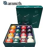 Aramith the Belgian Billiard Balls Continental bilie Biliardo Diametro mm.38, in Resina fenolica, disciplina Pool 15 biglie numerate e Una Bianca Battente