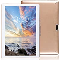 LNMBBS 3G Tablet 10 Pollici con WiFi, Quad Core,RAM 2GB, Memoria Interna 32 GB, Android 7.0, Oro