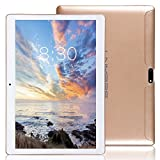 LNMBBS Tablet 10 Zoll HD - Android 7.0, 2GB RAM, 32GB eMMC, WiFi, 3G - Dual SIM, Bluetooth 4.0, GPS, 1.3GHz Quad Core (Gold)