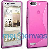 Funda carcasa para ORANGE GOVA / HUAWEI ASCEND G6 GEL TPU Diseño S-Line Color ROSA
