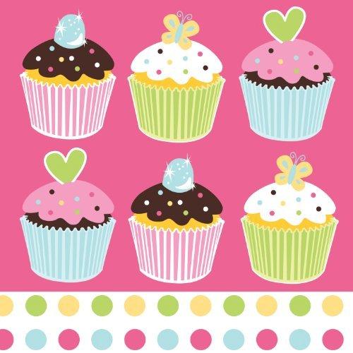 Cupcake-thema-partei - Süßigkeiten Leckerei Party Keine Nachricht Mittagessen Servietten x 16