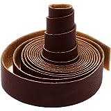 MagiDeal 10 Mètres Long Bande Courrouie Sangle En Cuir Synthétique Pour Bricolage Artisanat - Brun Clair