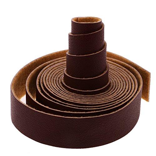 MagiDeal 10 Meter Lange Diy Lederband handwerk Riemen Streifen 2cm Breiten - Kaffee, one size