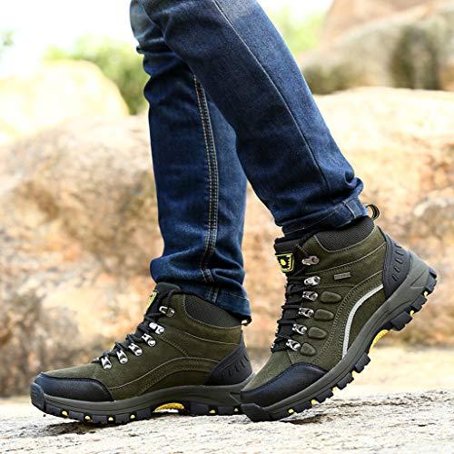 Abvenc Scarpe da Arrampicata Escursionismo per All'aperto, Sneaker da Montagna Sportive Corsa Fitness Leggero Antiscivolo Donna (Verde, EU:36)