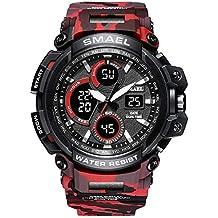 Là Vestmon 1708B Analógico Digital Reloj Militar Reloj Deportivo para Hombre, Doble Esfera Business Casual