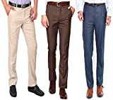 #2: AD & AV Mens Formal Trouser PACKOF_3_2BY2_COFFI_Blue_Cream_BB