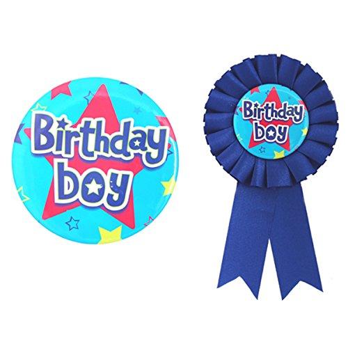 Anniversaire Boy badge & Rosette Set - rend l'anniversaire garçon Sensation spéciale