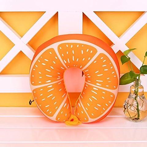 Kingko Fruit en forme de U Oreiller Voyage Oreiller Nanoparticles