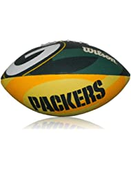 Wilson Football Wilson NFL Junior Greenbay Logo Junior - Balón de fútbol americano ( infantil, caucho ) , color verde / amarillo, talla Junior