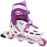 SFR Phantom White/Purple Kids Adjustable Inline Skates