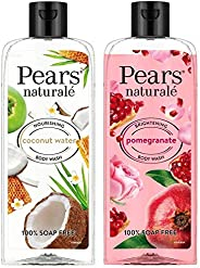 Pears Naturale Nourishing Coconut Water Bodywash, 250 ml & Pears Naturale Brightening Pomegranate Bodywash, 250 ml