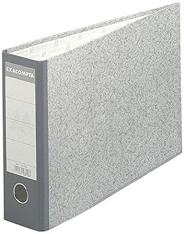 Exacompta 53310E Classeur à levier en papier marbré gris Format horizontal dos de 7 cm 24 x 37 cm