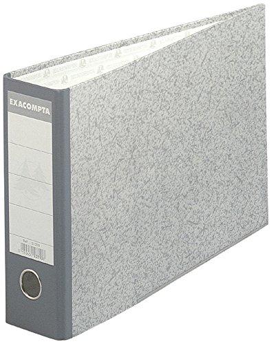 Exacompta-53310E-Classeur--levier-en-papier-marbr-gris-Format-horizontal-dos-de-7-cm-24-x-37-cm