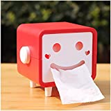 MosQuicK Plastic Smile Tissue Paper Holder (Red and Green)