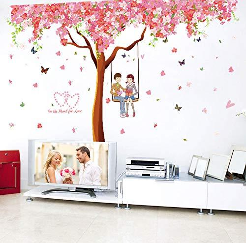 Diy Romantische Kirschbaum Wandaufkleber Wohnkultur Vinyl Schlafzimmer Wohnzimmer Sofa Hintergrund Ehe Raumdekoration Wandtattoos