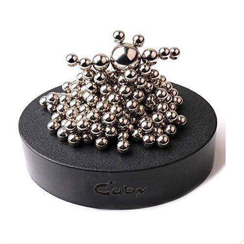 Zmi magnetico in acciaio inox scrivania scultura giocattolo con palla antistress ufficio decorazione