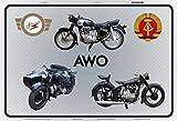 Schatzmix Simson AWO DDR Motorrad blechschild