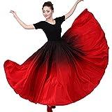 Schwarz rot Gradient Performance Tanzen Rock (Schwarz Rot)