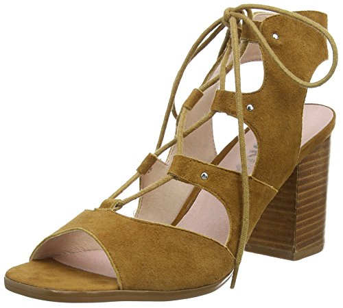 Bronx BmarlowX, Damen Peep-Toe Pumps, Braun (21 Mid brown), 38 EU