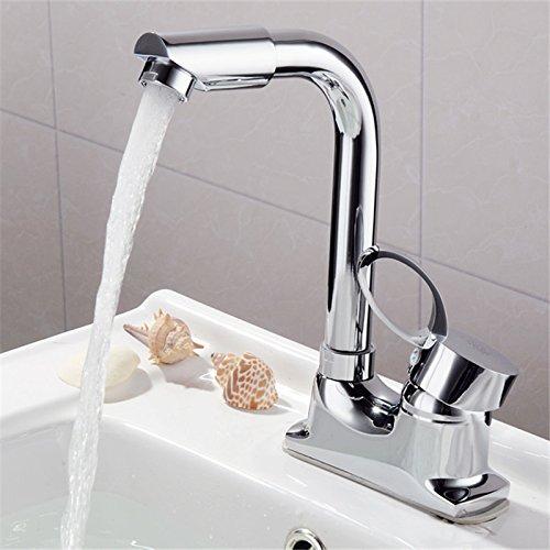 BBSLT Coppia di due fori monocomando primavera bacino bacino rubinetti panca in ottone