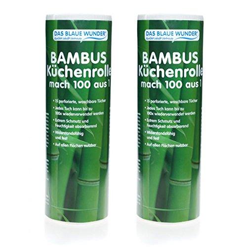 Das blaue Wunder - Bambus Küchenrolle aus 1 mach 100 (2) (Bambus-blätter 100%)