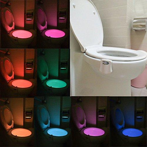 Stoga lampada wc, t03 attivata movimento/luce sensibile igienici led automatico nightlight del sensore di movimento della lampada bagno per qualsiasi night light igienici battery-operated