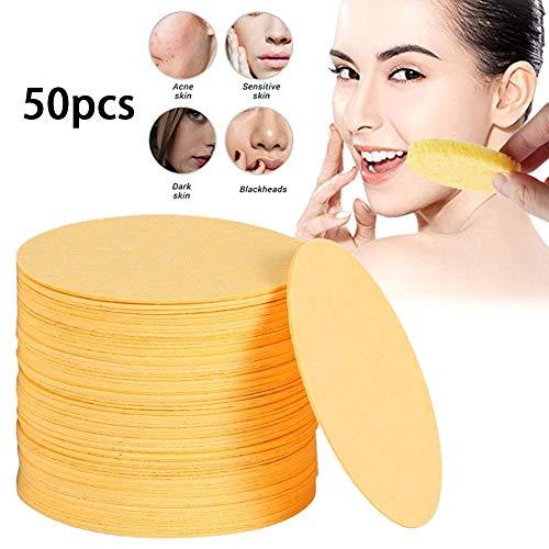 50 stücke Pflanzenfaser Schwamm Gesichtsreinigung Peeling Reinigung Natürliche Umwelt Zellstoff Baumwolle
