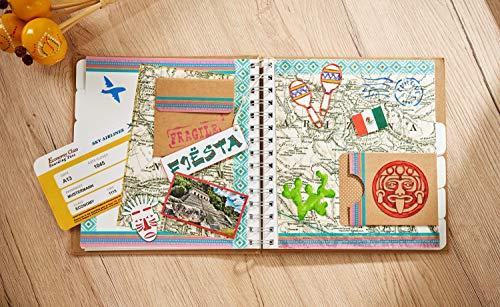 """VBS Mega-Set """"Vintage-Karten"""" Hochzeit Einladungskarten quadratisch aus braunem naturfarbenen Kraftpapier Kartengestaltung Etiketten Geschenkanhänger im Vintagestil basteln - 5"""