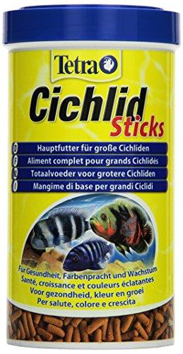 Tetra Cichlid Sticks (Hauptfutter für alle Cichliden und andere große Zierfische, schwimmfähige Futtersticks), 500 ml Dose