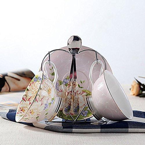 Ensemble de thé en céramique créative / Ensemble de 2 tasses 2 (5 couleurs facultatives) ( couleur : B )