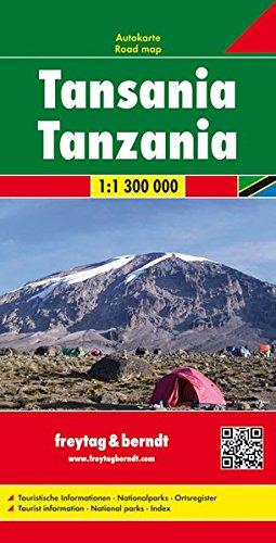 Tanzania 1:1.300.000 di Freytag-Berndt und Artaria KG
