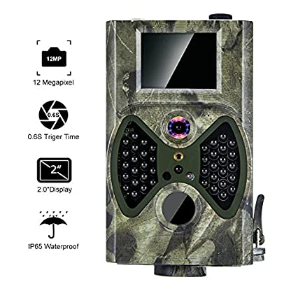 """distianert Trail Camera, 1080P 12MP Hunting Camera with Infrared Night Vision, 36pcs 940nm IR LEDs, 2"""" LCD Display, IP65 Waterproof for Wildlife Monitoring & Home Security"""