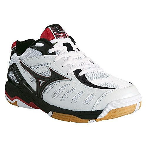 Mizuno- Wave Rally 4 Mid Volley - white - black - red