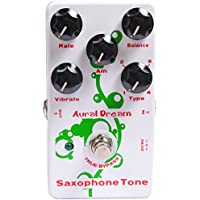 Aural Dream Saxophone Tone Synthesizer Guitar Effects Pedal based on organ including saxophone 16',saxophone 8',theater saxophone 16'and theater saxophone 8'with vibrato module control.
