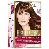 L'Oréal Paris Excellence Creme Coloration, 4.32, Sonniges Dunkelbraun, 3er Pack (3 x 1 Stück)