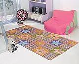 Tappeto per bambini fiori/multicolore/100x 165cm/certificato Oeko-Tex Standard