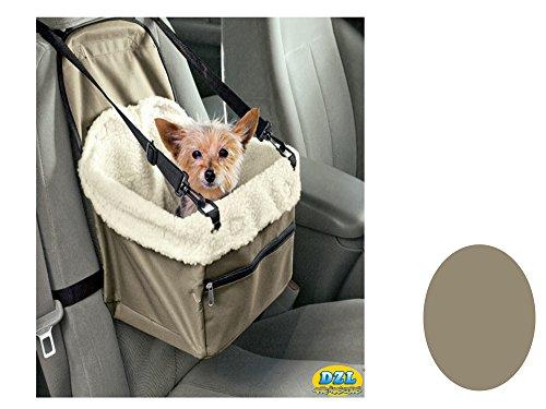 Vinteky® Trasportino da auto per schienale del sedile, progettato per Animali domestici, con imbracatura di sicurezza e interno morbido - colore: verde