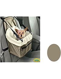 DZL Transporten de coche para respaldo de silla, diseño de perro gato mascotas con arnés de seguridad y trapuntina Interior suave (VERDE)