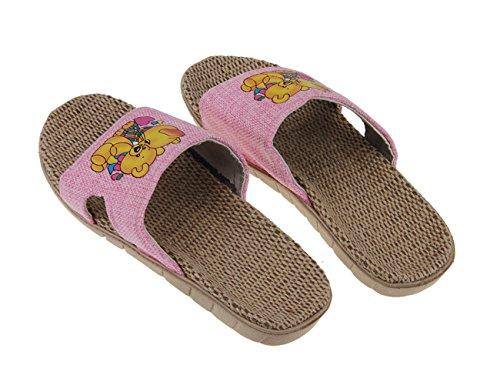 Sandales de mer/plage pour Enfant Chaussure Vogue Cadeaupour Fille Garçon Tongs Souple en Salle Chausson En PVC Anti-dérapant CartoonUnisexe Pantoufle Forme-Plate Sandale Plage Rose